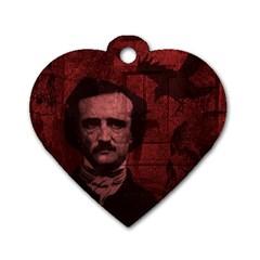 Edgar Allan Poe  Dog Tag Heart (one Side) by Valentinaart
