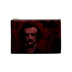 Edgar Allan Poe  Cosmetic Bag (medium)  by Valentinaart