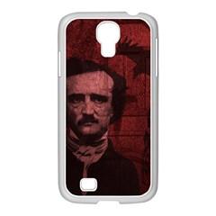 Edgar Allan Poe  Samsung Galaxy S4 I9500/ I9505 Case (white) by Valentinaart