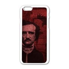 Edgar Allan Poe  Apple Iphone 6/6s White Enamel Case by Valentinaart