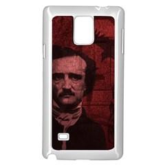 Edgar Allan Poe  Samsung Galaxy Note 4 Case (white) by Valentinaart