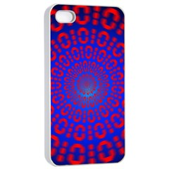 Binary Code Optical Illusion Rotation Apple Iphone 4/4s Seamless Case (white) by Simbadda