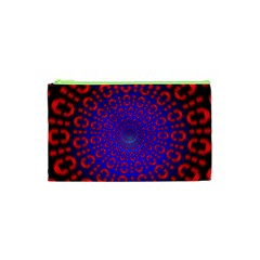 Binary Code Optical Illusion Rotation Cosmetic Bag (xs)