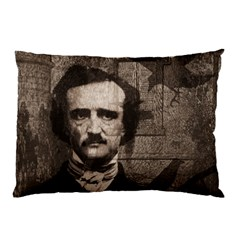 Edgar Allan Poe  Pillow Case (two Sides) by Valentinaart
