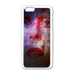 David Bowie  Apple Iphone 6/6s White Enamel Case by Valentinaart