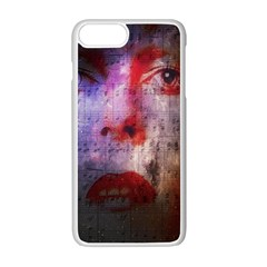 David Bowie  Apple Iphone 7 Plus White Seamless Case by Valentinaart