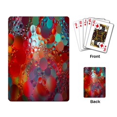 Texture Spots Circles Playing Card by Simbadda
