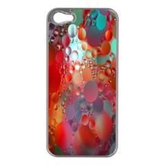 Texture Spots Circles Apple Iphone 5 Case (silver) by Simbadda