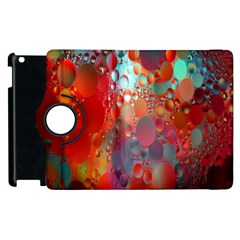 Texture Spots Circles Apple Ipad 3/4 Flip 360 Case by Simbadda