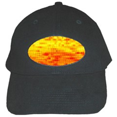 Bright Background Orange Yellow Black Cap