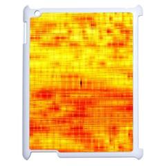 Bright Background Orange Yellow Apple Ipad 2 Case (white) by Simbadda