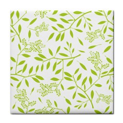 Leaves Pattern Seamless Tile Coasters by Simbadda