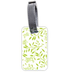 Leaves Pattern Seamless Luggage Tags (one Side)  by Simbadda