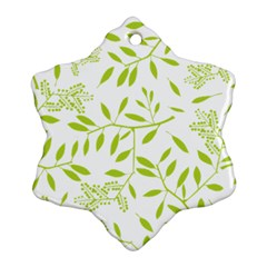 Leaves Pattern Seamless Snowflake Ornament (two Sides)