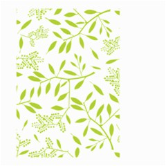 Leaves Pattern Seamless Small Garden Flag (two Sides) by Simbadda