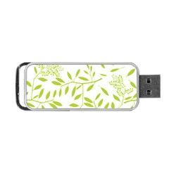 Leaves Pattern Seamless Portable Usb Flash (one Side) by Simbadda