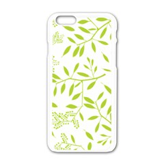 Leaves Pattern Seamless Apple Iphone 6/6s White Enamel Case by Simbadda