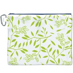 Leaves Pattern Seamless Canvas Cosmetic Bag (xxxl) by Simbadda