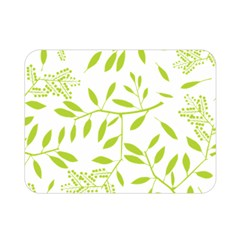 Leaves Pattern Seamless Double Sided Flano Blanket (mini)  by Simbadda