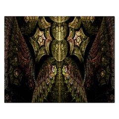 Fractal Abstract Patterns Gold Rectangular Jigsaw Puzzl by Simbadda