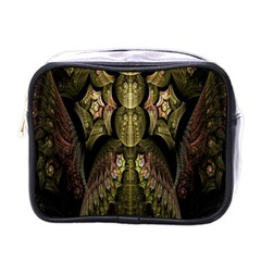 Fractal Abstract Patterns Gold Mini Toiletries Bags