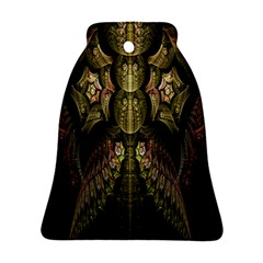 Fractal Abstract Patterns Gold Bell Ornament (two Sides) by Simbadda