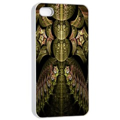 Fractal Abstract Patterns Gold Apple Iphone 4/4s Seamless Case (white) by Simbadda