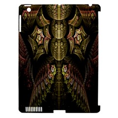 Fractal Abstract Patterns Gold Apple Ipad 3/4 Hardshell Case (compatible With Smart Cover) by Simbadda