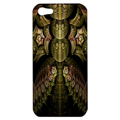 Fractal Abstract Patterns Gold Apple Iphone 5 Hardshell Case by Simbadda