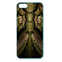 Fractal Abstract Patterns Gold Apple Seamless iPhone 5 Case (Color) by Simbadda