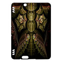 Fractal Abstract Patterns Gold Kindle Fire Hdx Hardshell Case by Simbadda