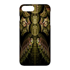 Fractal Abstract Patterns Gold Apple Iphone 7 Plus Hardshell Case by Simbadda