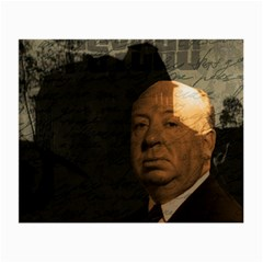Alfred Hitchcock   Psycho  Small Glasses Cloth (2 Side) by Valentinaart
