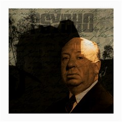 Alfred Hitchcock   Psycho  Medium Glasses Cloth (2 Side) by Valentinaart