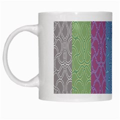 Fine Line Pattern Background Vector White Mugs by Simbadda
