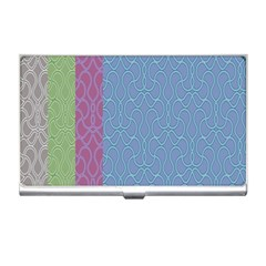 Fine Line Pattern Background Vector Business Card Holders by Simbadda