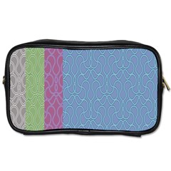 Fine Line Pattern Background Vector Toiletries Bags 2 Side by Simbadda