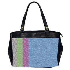 Fine Line Pattern Background Vector Office Handbags (2 Sides)  by Simbadda