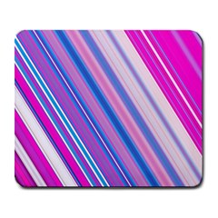 Line Obliquely Pink Large Mousepads by Simbadda