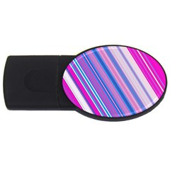 Line Obliquely Pink Usb Flash Drive Oval (2 Gb) by Simbadda