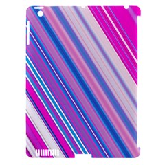Line Obliquely Pink Apple Ipad 3/4 Hardshell Case (compatible With Smart Cover) by Simbadda