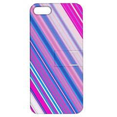 Line Obliquely Pink Apple Iphone 5 Hardshell Case With Stand by Simbadda
