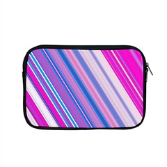 Line Obliquely Pink Apple Macbook Pro 15  Zipper Case by Simbadda