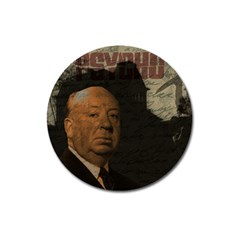 Alfred Hitchcock   Psycho  Magnet 3  (round) by Valentinaart