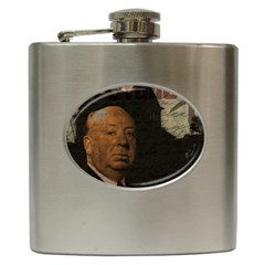 Alfred Hitchcock   Psycho  Hip Flask (6 Oz) by Valentinaart