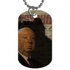 Alfred Hitchcock   Psycho  Dog Tag (two Sides) by Valentinaart