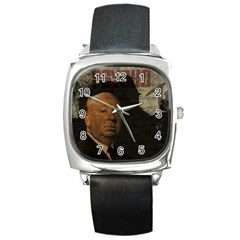 Alfred Hitchcock   Psycho  Square Metal Watch by Valentinaart