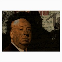 Alfred Hitchcock   Psycho  Large Glasses Cloth (2 Side) by Valentinaart