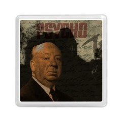 Alfred Hitchcock   Psycho  Memory Card Reader (square)  by Valentinaart