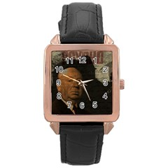 Alfred Hitchcock   Psycho  Rose Gold Leather Watch  by Valentinaart